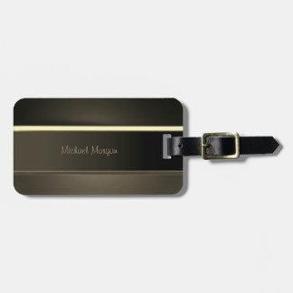 Elegant Luxury ,Vintage ,Striped Luggage Tag