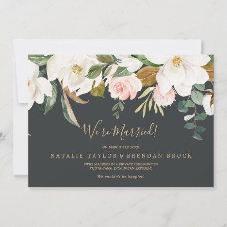 Elegant Magnolia | Black Elopement Announcement