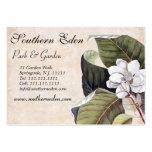 Elegant Magnolia Collage Vintage Garden Business Card Templates