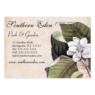 Elegant Magnolia Collage Vintage Garden Large Business Cards (Pack Of 100)