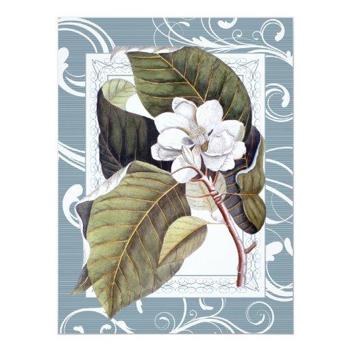 Elegant Magnolia Southern Belle Wedding Card