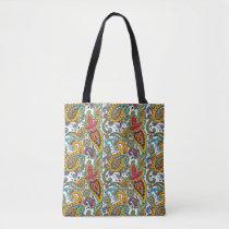 Elegant Maharani Queen Paisley Pattern Tote Bag