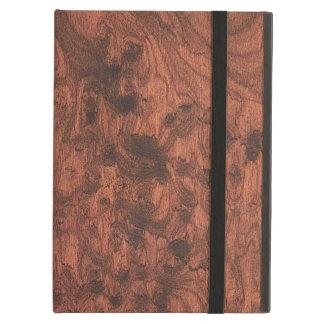Elegant Mahogany Wood Grain Style Cover For iPad Air