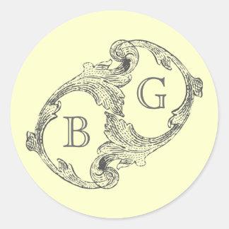 Elegant Mailing Labels Classic Round Sticker