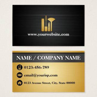 Elegant Makeup Artist (Personalize) Makeup Tool Business Card