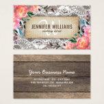 Elegant Makeup Artist Wedding Rustic Floral Business Card at Zazzle