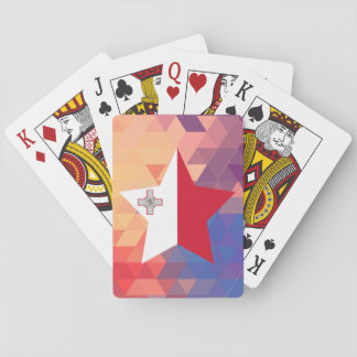 Elegant Malta flag heart Playing Cards
