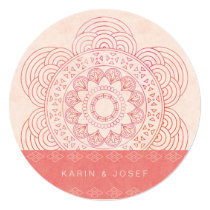 Elegant Mandala Boho Chic Wedding Card