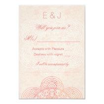 Elegant Mandala Boho Chic Wedding RSVP Card