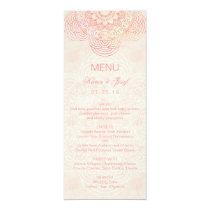 Elegant Mandala Chic Boho Wedding Menu Card