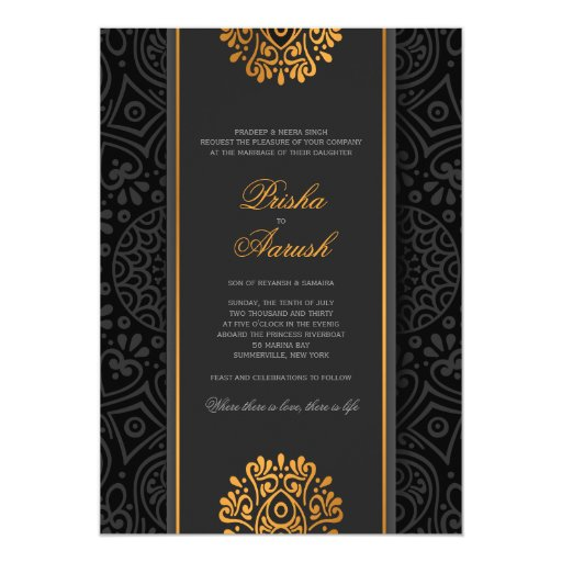 Elegant Mandala Indian Wedding Invitation