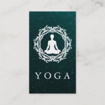 Elegant Mandala Logo Yoga Healing Health Business Card