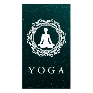 Elegant Mandala Logo Yoga Healing Health Business Card