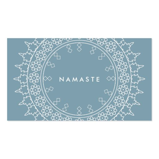 Elegant Mandala Namaste Yoga Blue Business Card