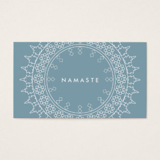 Elegant Mandala Namaste Yoga Blue Business Card
