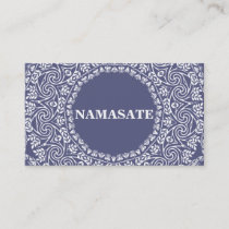 Elegant Mandala Namaste Yoga Logo Art Business Card