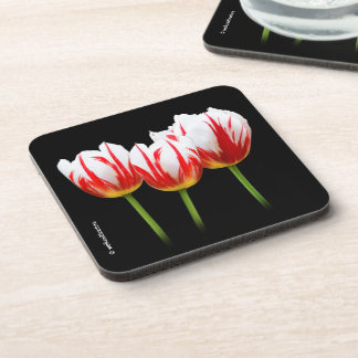 Elegant Maple Leaf Tulips Coaster