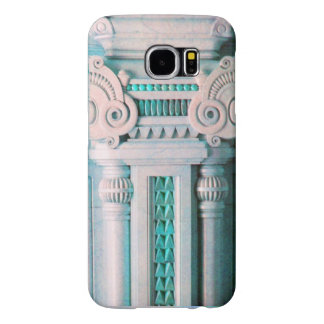 ELEGANT MARBLE COLUMN,PINK BLUE INTERIOR DESIGN SAMSUNG GALAXY S6 CASES