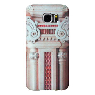 ELEGANT MARBLE COLUMN,RED PINK INTERIOR DESIGN SAMSUNG GALAXY S6 CASES