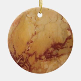 Elegant Marble Design Christmas Ornament