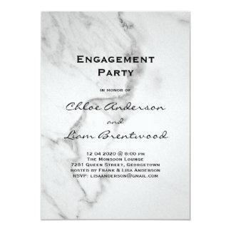 Elegant Marble Engagement Party Invitation