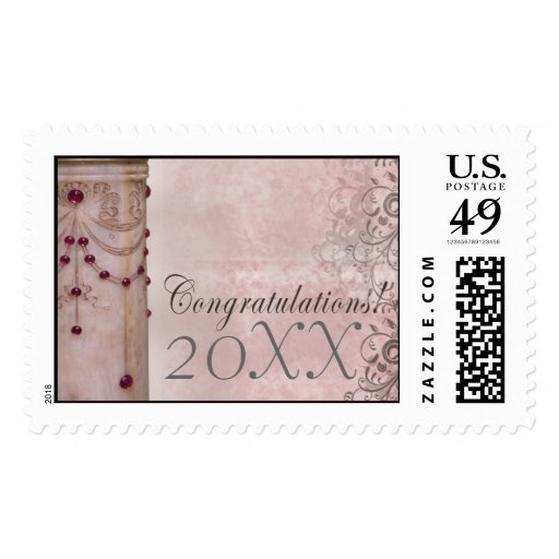 Elegant marble graduation stamp with swirls