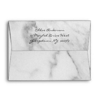 Elegant Marble Invitation Envelope