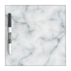 Elegant Marble Look Dry Erase Board at Zazzle