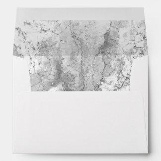 Elegant Marble Stone Background Modern Wedding Envelope