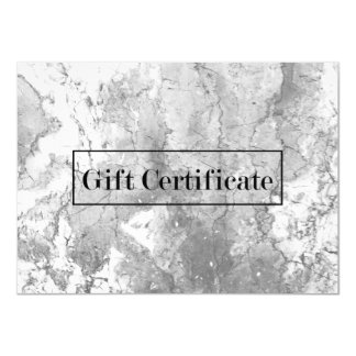 Elegant Marble Stone Modern Gift Certificates Card