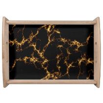 Elegant Marble style3 - Black Gold Serving Tray
