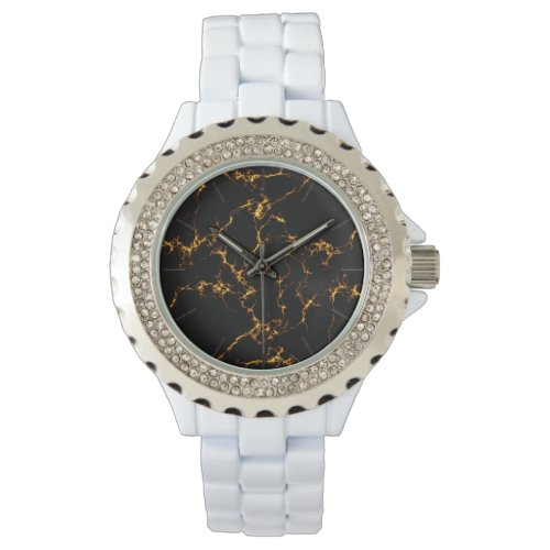 Elegant Marble style3 - Black Gold Wristwatch