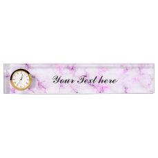 Elegant Marble style - purple pink Desk Name Plate