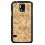 Elegant Marble Texture Carved Maple Galaxy S5 Case
