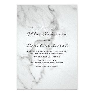 Elegant Marble Wedding Invitation