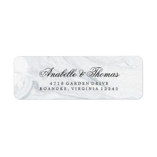 Elegant Marble Wedding Label