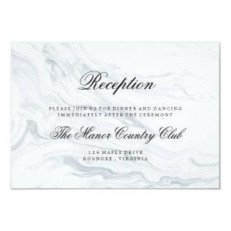 Elegant Marble Wedding Reception Card