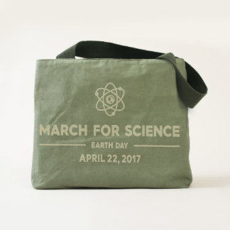 Elegant March for Science Canvas Utility Tote Bag