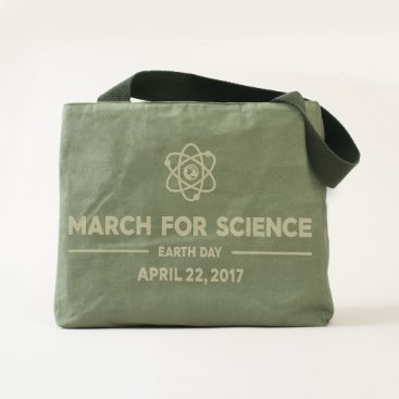 girlygirlgraphics Elegant March for Science Canvas Utility Tote Bag