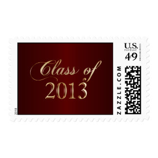 Elegant Maroon and Gold Class of 2013 Stamp