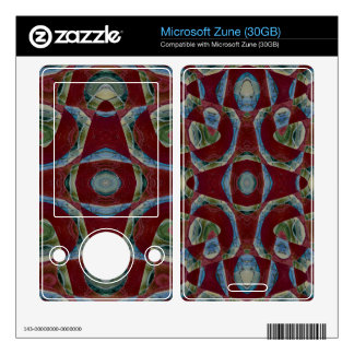 Elegant Maroon Blue Abstract Zune Decal