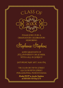 College graduation invitations zazzle elegant maroon gold college graduation party invitation filmwisefo