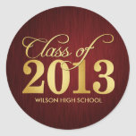 Elegant Maroon vignette and Gold Class of 2013 Stickers