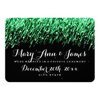 Elegant Marriage Elopement Falling Stars Emerald Card
