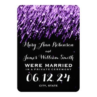 Elegant Marriage Elopement Falling Stars Purple Custom Invites