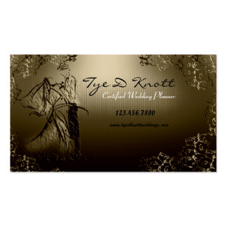 Elegant Married Couple Wedding Planner Business Cards
