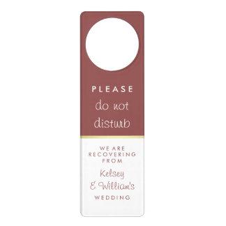 Elegant Marsala Wedding Guest Do not Disturb Door Hanger