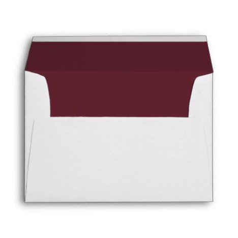 Elegant Marsala Wedding Invitation Envelope
