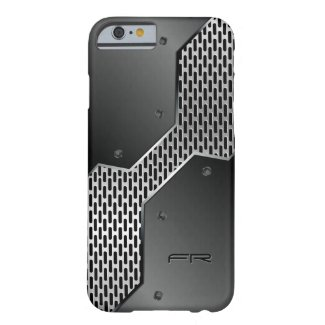 Elegant Masculine Black & Gray Geometric Design Barely There iPhone 6 Case