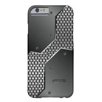 Elegant Masculine Black & Gray Geometric Design Barely There iPhone 6 Case